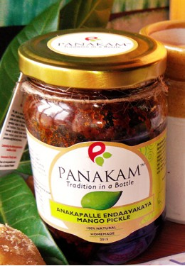 Anakapalle Endaavakaaya Mango Pickle (With Garlic)